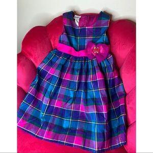 Blueberi Boulevard Girls Size 4T Pink Blue Plaid